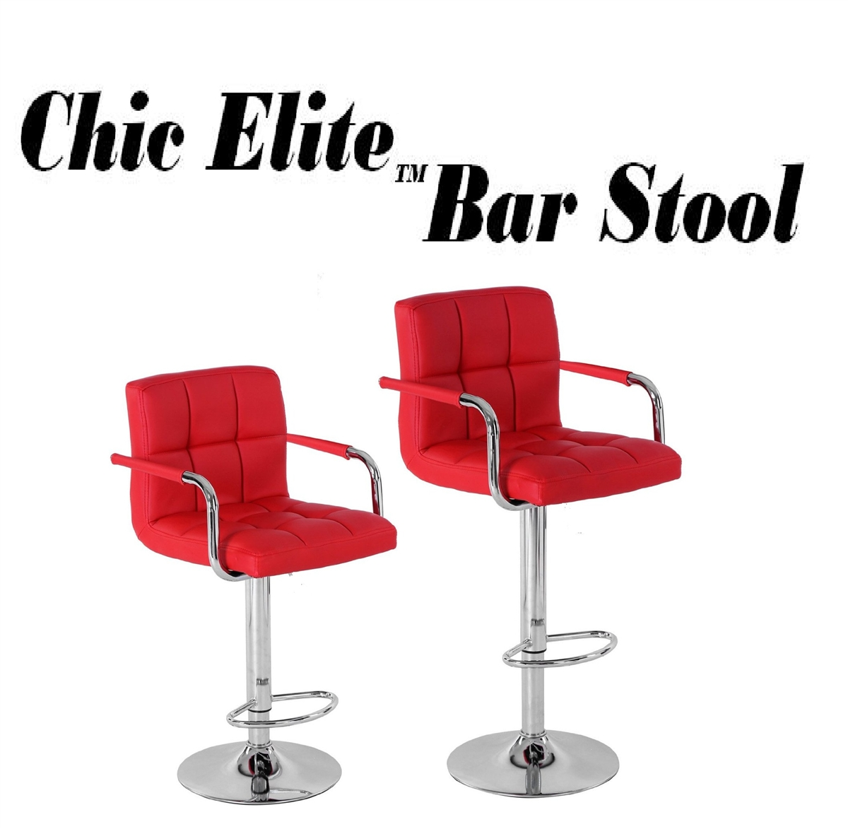 Chic Elite Contemporary Bar Stool Set Of 2