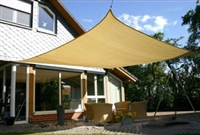 Heavy Duty Sun Sail Shade - Large 16'x14' Rectangle - Available in Sand