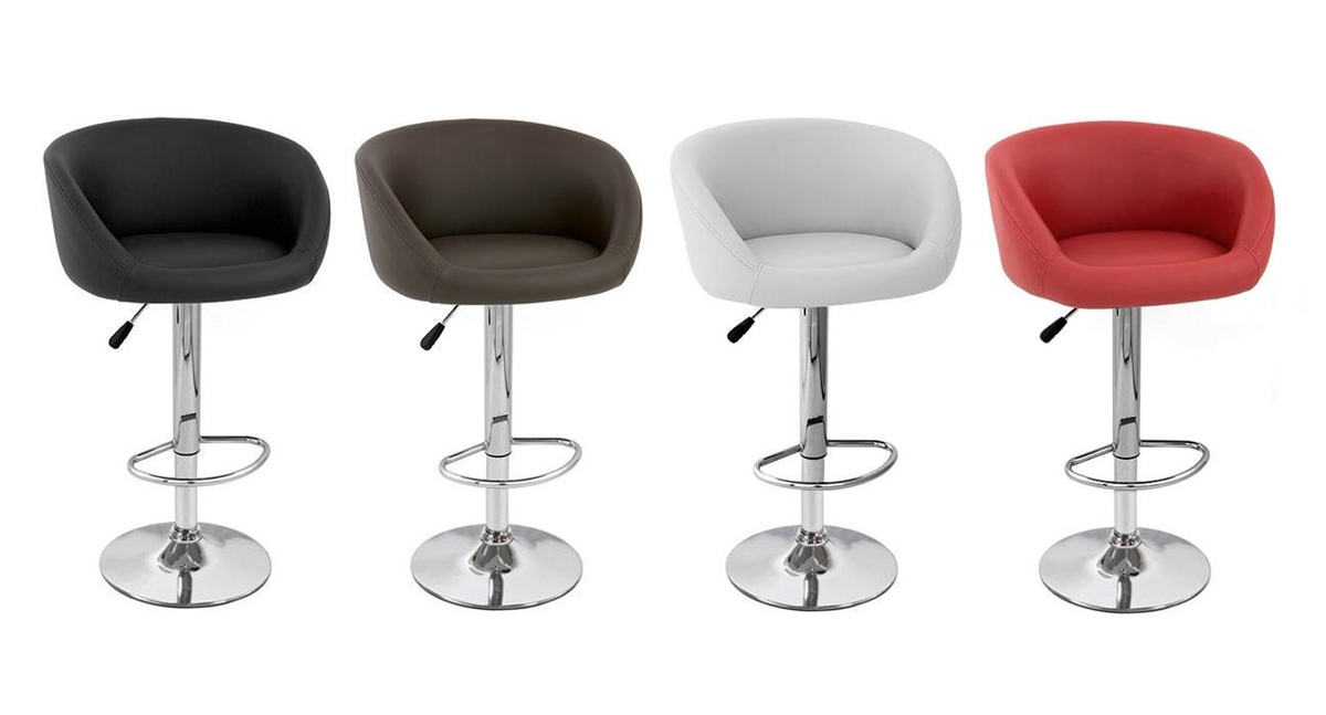 Incredible Isu Faux Leather Modern Adjustable Bar Stool Set Of 2 Gmtry Best Dining Table And Chair Ideas Images Gmtryco