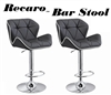 Recaro Modern Adjustable Bar Stool - Set of 2