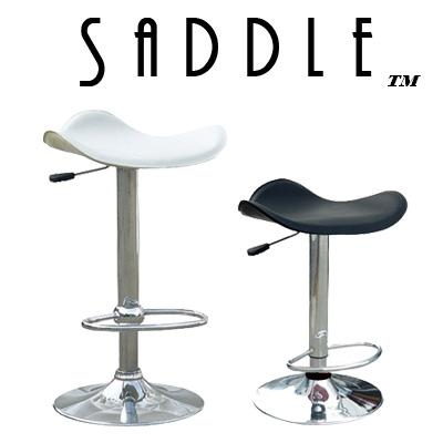 Saddle Faux Leather Single Contemporary Adjustable Bar Stool