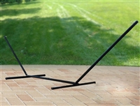 Steel Triple Beam Hammock Stand - Black