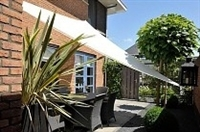 Waterproof 12' Triangle Sun Sail Shade - White Creme