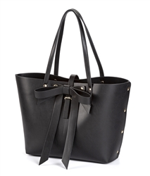Large Bow Tote in Black
