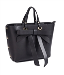 Bow Satchel in Black