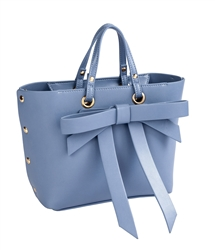 Bow Satchel in Blue