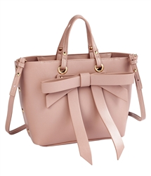 Bow Satchel in Pink