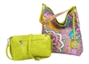 Reversible Hobo-Lime/Paisley