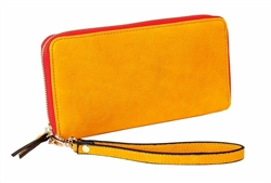 Summer Brights Orange Zip Around Wallet