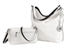 Reversible Hobo with inner pouch in White/Black