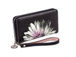 Pink Daisy Zip Around Wallet