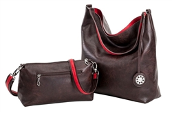 Brown and Red Reversible Hobo