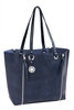 Navy & Denim Zip-Off Reversible Tote