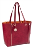 Burgundy & Terracotta Zip-Off Reversible Tote