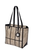 Black & Sand Window Pane Tote