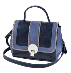 Navy & Denim Zip Off Satchel