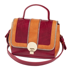 Burgundy & Tarracotta Zip Off Satchel