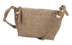 Taupe Grommet Cross Body