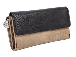 Black/Taupe Wallet