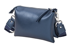 Blue Metallic Crossbody