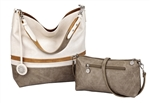 Creme, Caramel & Cement Reversible Hobo