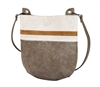 Creme, Camel & Cement Crossbody