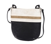 Creme, Taupe & Black Crossbody