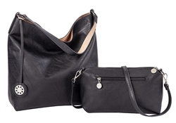 Reversible Hobo-Black/Blush