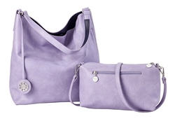 Reversible Hobo-Violet/ Navy