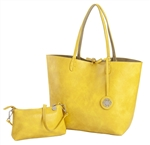 Reversible Large Tote-Buttercup/ Sage