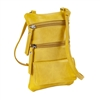 Double Zip Cross Body Cell Phone Holder/Buttercup