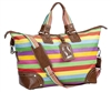 Canvas Stripe Overnight Bag