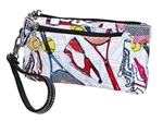Tennis Everyone Double Zip Wristlet