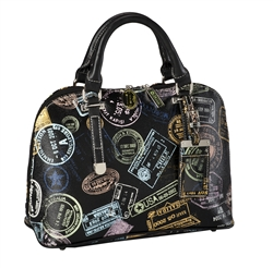 Bon Voyage Passport Print Bowling Bag