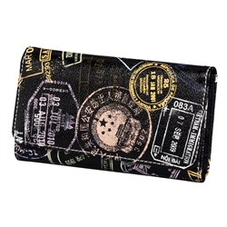 Bon Voyage Passport Print Wallet