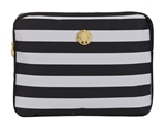 "Black and Silver Stripe 13"" Laptop Sleeve"