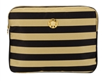 "Black and Gold Stripe 13"" Laptop Sleeve"