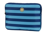 "Turquoise and Royal Blue Stripe 13"" Laptop Sleeve"