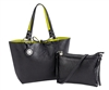 Black & Lime Reversible Medium Tote