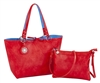Red & Blue Reversible Medium Tote
