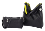 Black & Lime Reversible Hobo