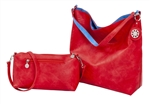 Red & Blue Reversible Hobo
