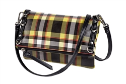 Green Plaid Crossbody