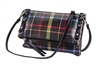 Black Plaid Crossbody
