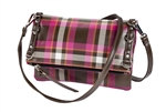 Fuchsia Plaid Crossbody