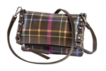 Chocolate Plaid Crossbody