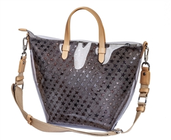 Jelly Tote-Taupe Stars