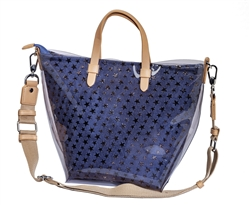 Jelly Tote-Denim Stars