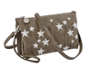 Embroidered Stars Crossbody, Taupe