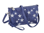 Embroidered Stars Crossbody, Denim